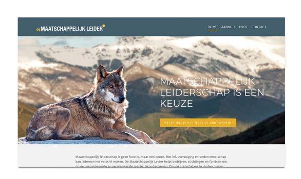 DE MAATSCHAPPELIJK LEIDER | NIEUWE WEBSITE