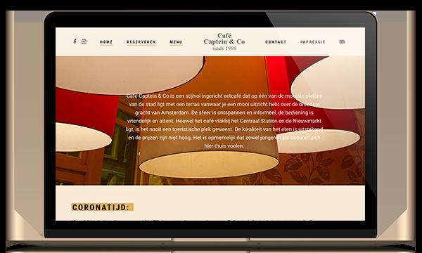 website restaurant captein en co online reserveringssysteem