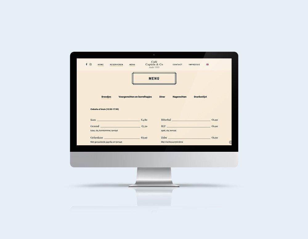 menu horeca wordpress website restaurant