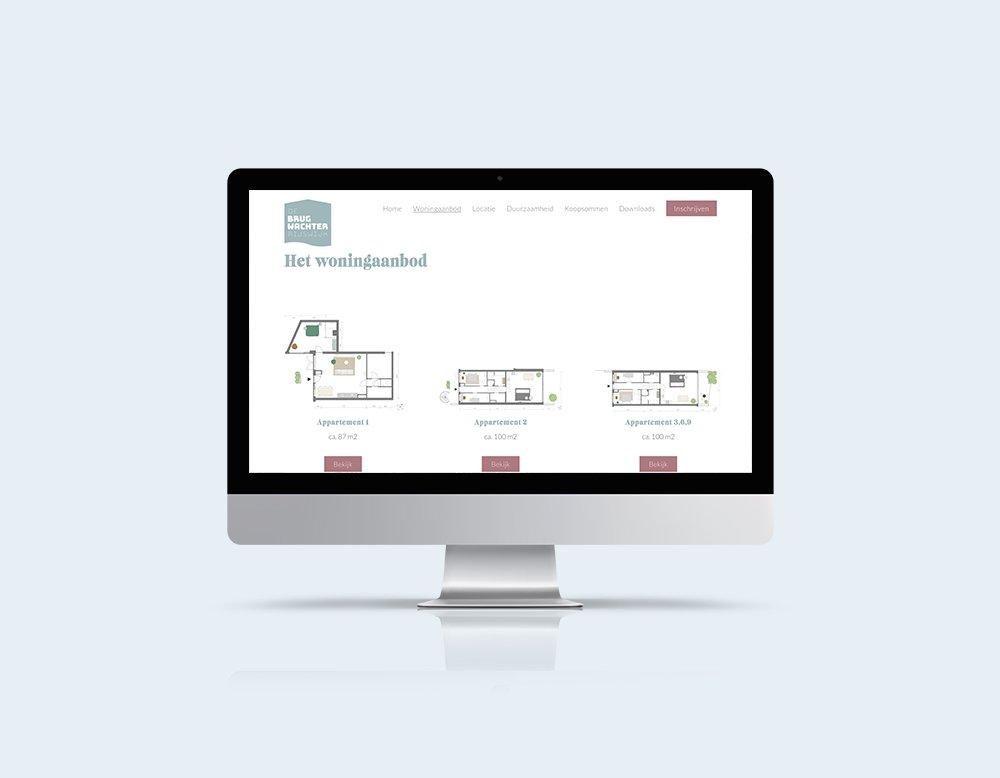 nieuwbouw website vastgoed brugwachter kleidi
